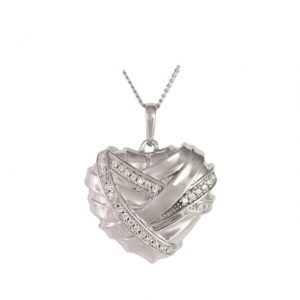 Healing heart ash pendant cremation urn