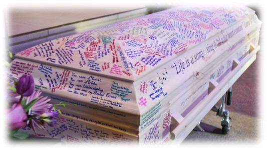 Personalised Coffin Writing
