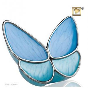 Wings of hope blue cremation urn