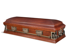 Pieta Casket Solid Antique Cherry $4995